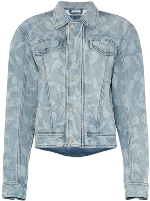 GmbH Leaf Print Denim Jacket
