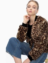 Splendid Leopard Faux Fur Jacket