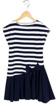 Il Gufo Girls' Striped Bow-Accented Dress