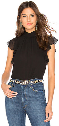 1 STATE Flutter Sleeve Top