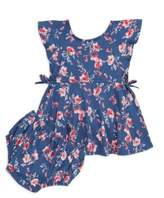 Splendid Two-Piece Floral Dress and Bloomers Set