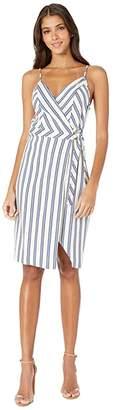 BCBGeneration Side Wrap Dress TRH6268185 (Gardenia) Women's Dress