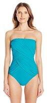 Gottex Women's Lattice Bandeau One-Piece Swimsuit