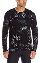 Splendid Mills Men's Long Sleeve Crew Neck Painted Camo Shirt