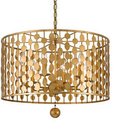 Crystorama Layla Chandelier - Antique Gold 5-Light