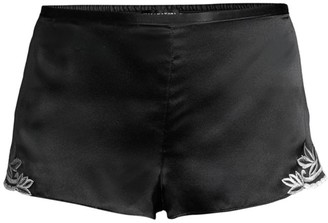 Josie Natori Lace-Trimmed Silk Shorts