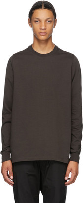 Rick Owens Brown Cotton Jersey Sweatshirt