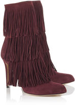 Paul Andrew Purple Fringed Taos Cordovan Boots