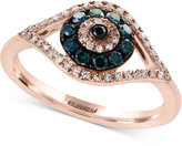 B.ella Bleu by EFFY® Diamond Evil-Eye Ring (1/3 ct. t.w.) in 14k