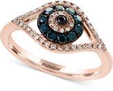 Effy Bella Bleu by Diamond Evil-Eye Ring (1/3 ct. t.w.) in 14k