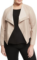 BB Dakota Plus Aaron Faux-Leather Jacket, Ivory, Plus Size