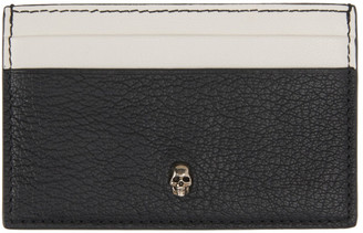 Alexander McQueen SSENSE Exclusive Black Skull Card Holder
