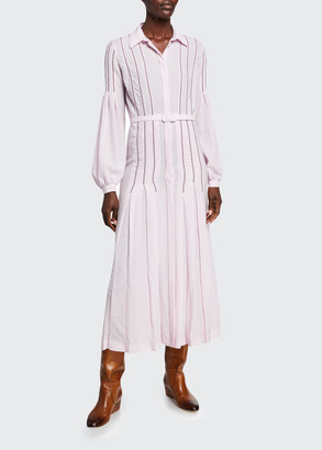 Gabriela Hearst Chelsea Wool-Cashmere Gauze Dress