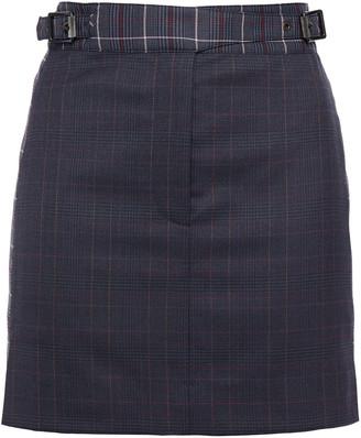 Rag & Bone Checked Wool-blend Mini Skirt