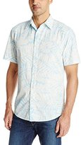Margaritaville Men's Short Sleeve Batik Leaf Shirt