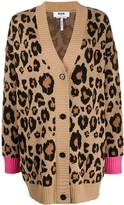 MSGM leopard print cardigan