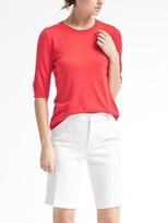 Banana Republic Silk Cashmere Elbow-Sleeve Pullover