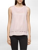 Calvin Klein Geometric Sleeveless Top