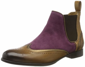 MELVIN & HAMILTON MH HAND MADE SHOES OF CLASS Women's Sally 19 Ankle boots Mehrfarbig (Multicolour Suede Chilena-Crazy Pink Cashmere Crust-Tortora-Binding Nappa Aztek-Bronze-Elastic-Mid Brown-Lining-Rich Tan-Insole Leather-Hrsrbrownw) 6.5 UK
