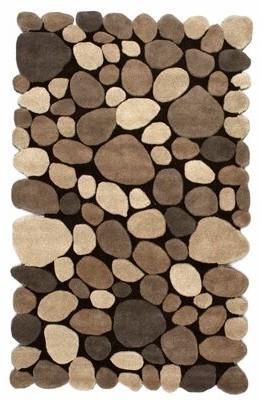 """Loon Peak Alpert Pebbles Handwoven Flatweave Wool Dark Brown Area Rug Loon Peak Rug Size: Rectangle 7'6"""" x 9'6"""""""