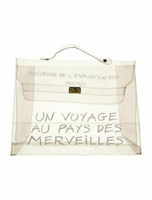 Hermes Vinyl Kelly Souvenir Bag Clear
