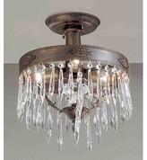 "Duchess 3 - Light 14"" Chandelier Style Tiered Semi Flush Mount Classic Lighting Finish: Aged Bronze, Crystal Type: Antique Italian"