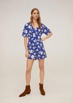 MANGO Flower short jumpsuit