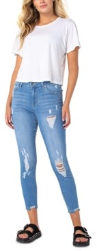 KENDALL + KYLIE Ripped Skinny Ankle Jeans