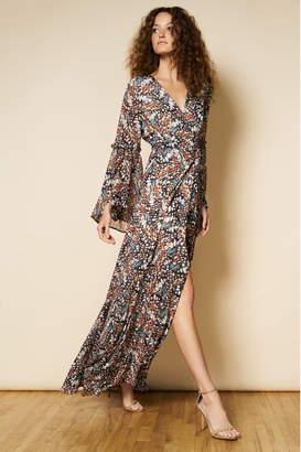 Hutch Butterfly Wrap Maxi Dress