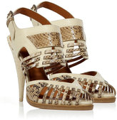 Givenchy Sand Python Sandals