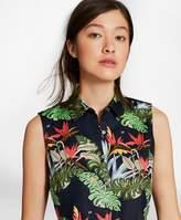 Brooks Brothers Tropical-Print Cotton Sateen Sleeveless Shirt