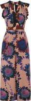Whistles Lavene Sunflower Silk Jumpsuit