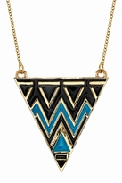 House Of Harlow Triangle Necklace in Turquoise