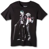 DC Comics ® Men's Joker and Harley Quinn T-Shirt Black