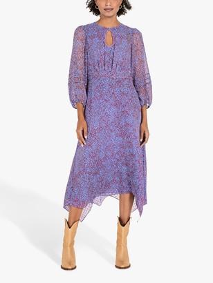 Hush Elisabeth Animal Print Midi Dress, Multi