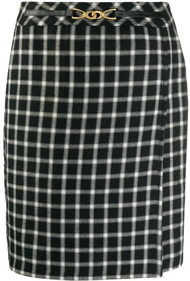 Céline Pre Owned 1980 Pre-Owned Check Skirt