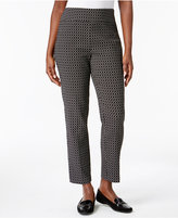 Alfred Dunner Petite Printed Pull-On Pants