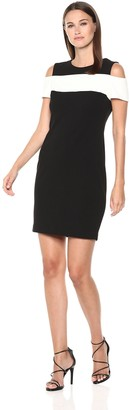 Tommy Hilfiger Women's Cold Shoulder with Chest Band
