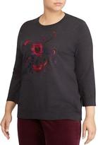 Lauren Ralph Lauren Plus Embroidered Sweater
