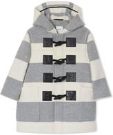 Burberry TEEN Logo Detail Striped duffle coat
