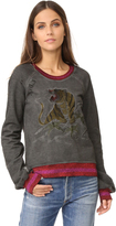 Pam & Gela Embroidered Crew Neck Sweatshirt