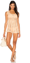 MinkPink Colour Me Crochet Romper