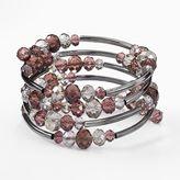 Vera Wang Simply vera jet bead coil bracelet