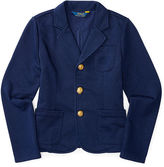 Ralph Lauren Cotton-Blend-Fleece Blazer