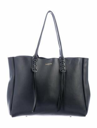 Lanvin Large Nela Shopper Tote Grey