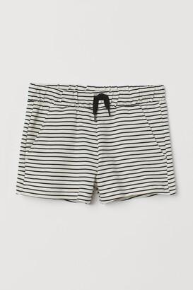 H&M Cotton sweatshirt shorts
