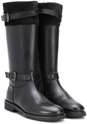 Gallucci Kids Double-Buckle Knee-High Boots
