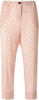 Miu Miu heart print cropped trousers