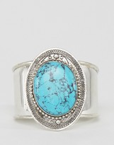 Raga Turquoise Pendant Cuff Bracelet