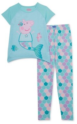 Peppa Pig Girls 4-8 Short Sleeve & Matching Pant Pajama Set